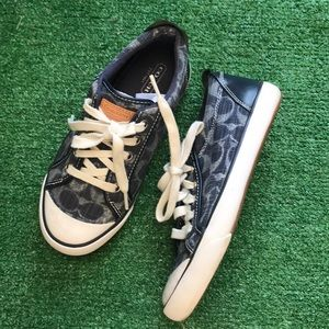 "Coach Sz 5.5 ""Barrett"" sneakers tennis shoes blue"